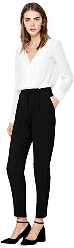 MANGO Vrouwen Monochrome Jumpsuit (zwart & wit)