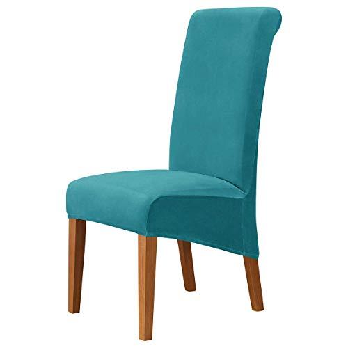 XBSXP Esszimmerstuhlbezüge, Crushed Velvet Stretchable Elastic Chairs Schutzhülle, abnehmbare waschbare Schonbezüge...