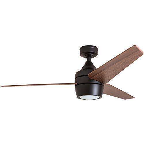 "Honeywell Ceiling Fans 50603 Eamon Modern Ceiling Fan with Remote Control, 52"", Bronze"