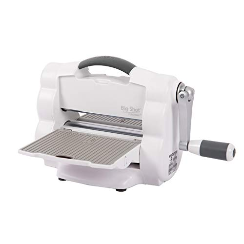 """Sizzix Big Shot Foldaway Compact Foldable Manual Die Cutting & Embossing Machine for Arts & Crafts, Scrapbooking & Cardmaking, 6"""" Opening"""