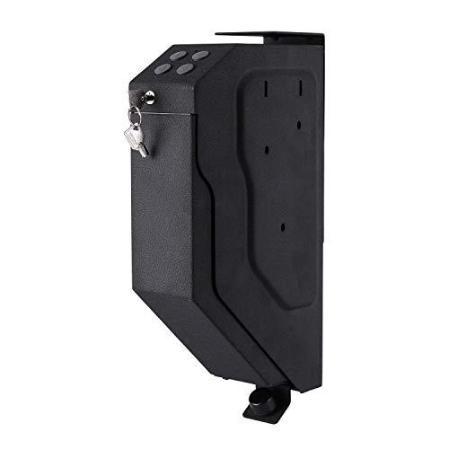 LOOCHO Mounted Handgun Safe Box Quick-Access Firearm Safety Device with Digital Keypad & 2 Emergency Keys