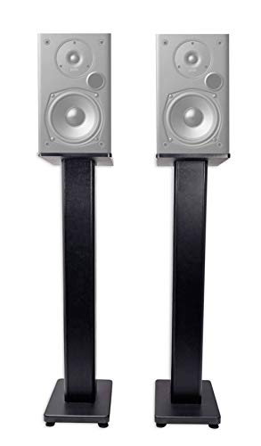 Best Review Of Pair 36 Bookshelf Speaker Stands for Polk Audio T15 Bookshelf Speakers