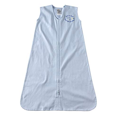 HALO 2160 SleepSack 100-Percent Cotton Wearable Blanket Large Light Blue
