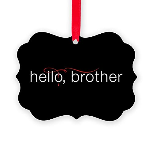 Christmas Tree Ornament, Tvd Hello Brother Ornament Merry Christrmas Trees Hanging Ornaments Traditional Xmas Tree Ornament for Holiday Party