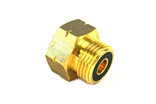 Drehmeister Raccordo per bombole di Gas No.4 AG KLF (G.12) - Pezzo di Tenuta per bombole di Gas Senza Guarnizione Lato bombola