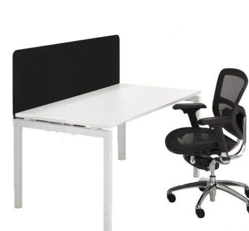 Schreibtischaufsatz - Trennwand für den Schreibtisch Breite 120 cm (Schwarz)
