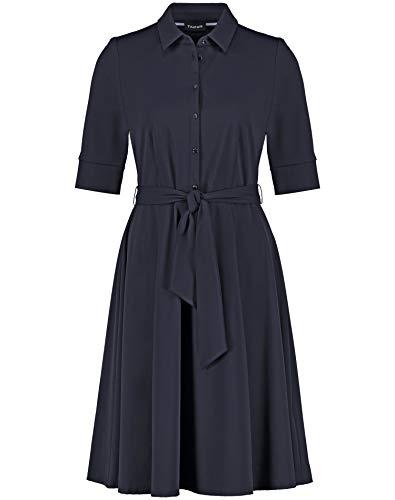 Taifun Damen Hemdblusenkleid Aus Stretch-qualität Tailliert Blue Shadow 38