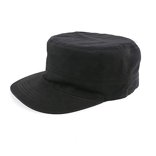 PIXNOR Casual Sport Casquette Army Militaire Cap Cap Flat-Top Hat Black