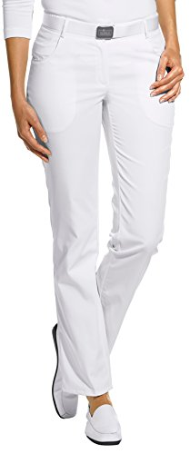 clinicfashion 10612025 Hose Damen weiß, Normallänge, Mischgewebe, Größe 42