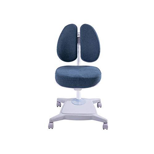 LRXGOODLUKE kinderbureaustoel, computerstoel Ergonomische dubbele rugleuning in hoogte verstelbare bureautaakstudiestoel met zwaartekracht zelfvergrendelend wiel Stijl4