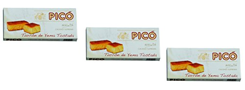 Picó - Pack incluye 3 Turron de Yema Tostada - Turron blando de Yema Tostada - Calidad Suprema - 200gr (Sin Gluten)