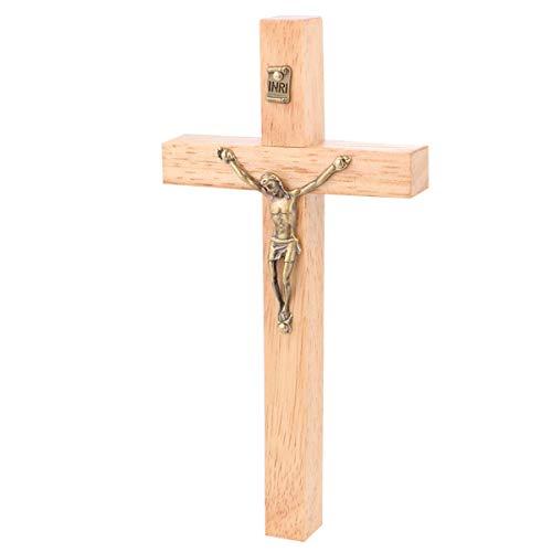 BESPORTBLE Kruzifix Wandkreuz für Wohnkultur Katholischen Katholischen Kruzifix Ornament Holzfarbe