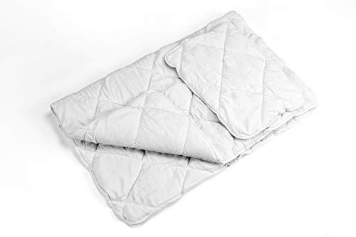 La ropa de cama de Aby completa el juego 135 X 200 CM para elegir la ropa de cama infantil de algodón de 2 piezas (Edredón y almohada (sin funda) JUEGO DE 2 PIEZAS) (Blanco, 90 x 120 cm)