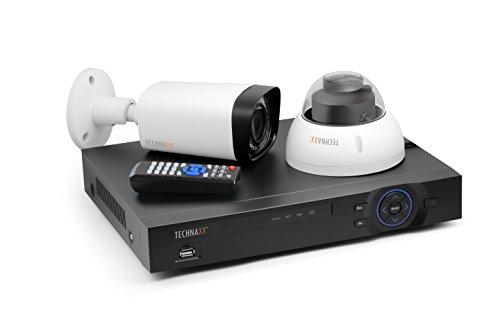 Technaxx 4565 Maxi Security Kit PRO FullHD 1080P TX-50, Überwachungskamera Set