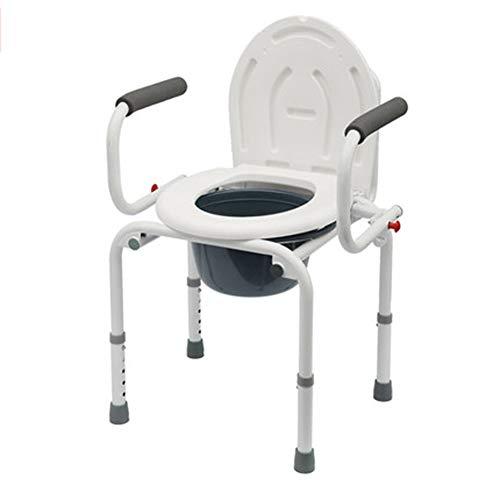 HDJX Ouderen toilet patiënt zitten toiletstoel, gehandicapte stoel huishoudelijke verwijderbare vouwen zwangere vrouw wc-kruk