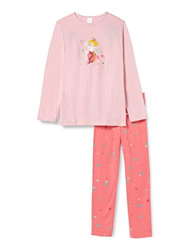 Schiesser Mädchen Prinzessin Lillifee Schlafanzug lang Pyjamaset, rosa, 128