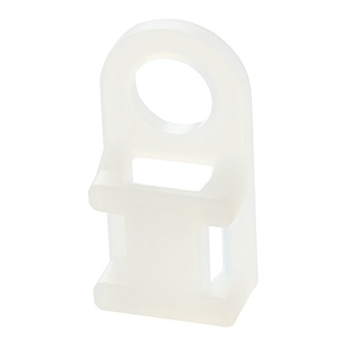 Panduit TA1S8-C 4-Way Tie Anchor Mount, Screw Applied, Nylon 6.6, Indoors Environment, #8 Screw Mounting Method, Natural, 0.17' Hole Diameter (Pack of 100)