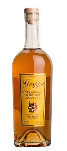 Distilleria Jannamico Grappa Riserva Barrique - Italienischer premium Grappa, der über 24 Monate in Eichenfässern gereift ist-Kork. Grappa (1 x 0.7 l)