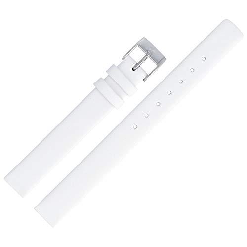 Skagen 358XSSLWW - Correa para Reloj (12 mm, Piel), Color Blanco