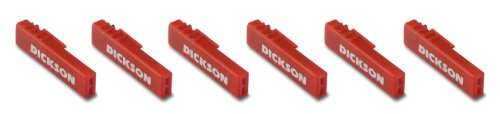 Dickson P222 Chart Recorder Pens, Red (Pack of 6)