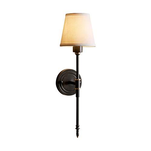 ZHEYANG Apliques Pared Dormitorio Interior Todo Bronce lámpara de Pared Dormitorio de Cobre Dormitorio Sala de Estar Pasillo callejón Creativa luz Cobre artesanías Negras