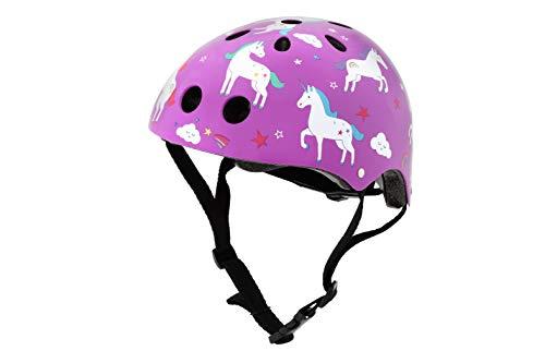 hornit Kinderhelm Fahrradhelm für Mädchen und Jungs Herren und Damen - Komplett einstellbar - LED Rücklicht - Für Fahrrad, BMX, Go-Kart, Scooter oder Skateboard - (Medium, Unicorn)