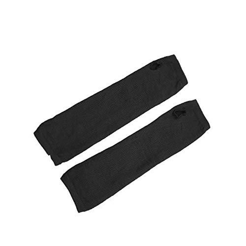SSG Home 1 par de Brazos Calentadores de Brazo otoño Mangas Ciclismo Guantes Suaves Deportes al Aire Libre Anti-UV Protect Ejecución de conducción de protección Solar de Manga Larga (Color : Black)