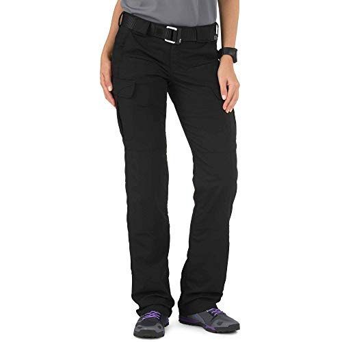 5.11 Tactical Women's Stryke Covert Cargo Pants, Stretchable, Gusseted Construction, Black, 12/Long, Style 64386
