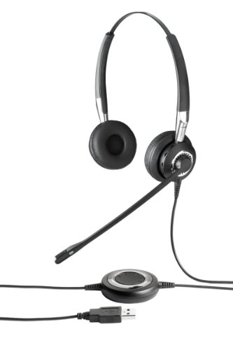 : Jabra BIZ 2400 USB MS Duo Lync Optimized Corded Headset for Softphone and Mobile Phone