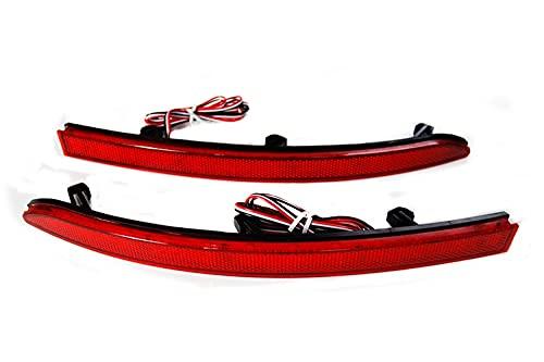 Mrfmh 2pcs Car Trasero Soporte de Parachoques luz de Parada de Freno de luz/Ajuste para Volkswagen TIGUAN 2009-2015 (Color : Red)