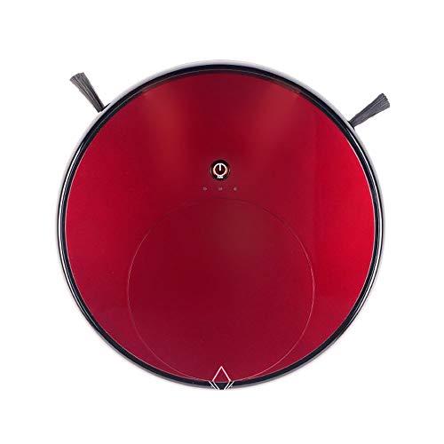 LG Snow La aspiradora de Robots, con la función de Temporizador Remoto, el Robot de batería Baja volverá a la Base de Carga por sí Misma, el Tiempo de Trabajo hasta 120 Minutos (Color : Red)