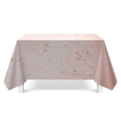 DSman Mantel de Plástico para Fiestas Interiores o Exteriores Cumpleaños Bodas Picnics Arte de ilustración de Textura de Cristal