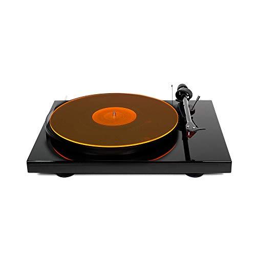 Hudson Hi-Fi Plattenspieler - Matte aus Acryl - OrangeLit - LP Slipmat