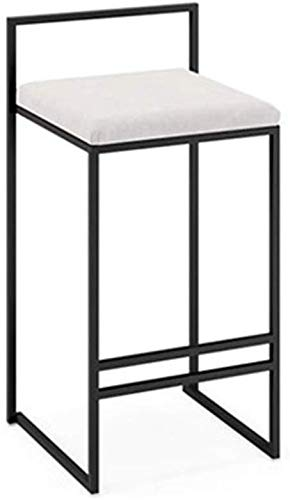 Barkruk, modern, creatief, eenvoudige hoge stoel, barkruk, barkruk, ontvangststoel kan worden gebruikt voor thee-winkel thuis enz. Kruk (kleur: grijs, maat: 66 x 82 cm) 66 * 82CM Wit
