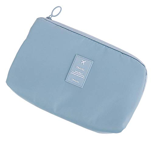 7 Styles Cosmetic Bag Travel Waterproof Portable Flamingo Makeup Bag Toiletry Women15 * 23CM-Blue_15 * 23CM