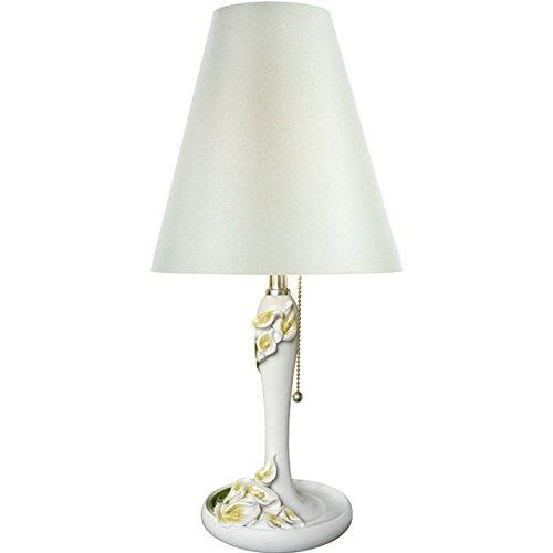 Lampe de Table de décoration, Lampe de Table Rural Salon Chambre Chambre d'enfant Lampe de Chevet Calla Lily Lampe de Table Tirer Ligne Interrupteur 1 tête E27 23 * 50CM (Couleur : A)