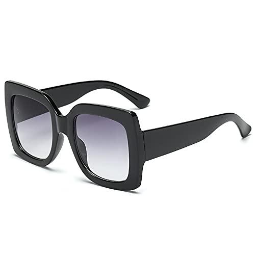 XWKKY Gafas De Sol Cuadradas De Gran Tamaño Gafas De Sol Vintage De Lujo Para Mujer Gafas De Sol Con Montura Grande De Moda