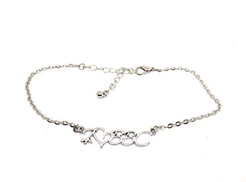 Alternative Intentions I Love BBC Chain Anklet Silver - HOTWIFE - Queen of Spades - Cuckoldress - Mistress - Blacked (I Heart BBC)