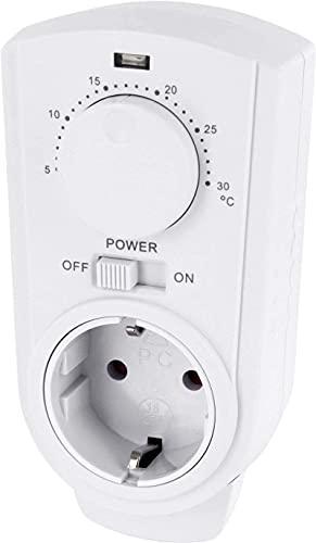 Conmutador analógico con termostato de 230 V, regulador...