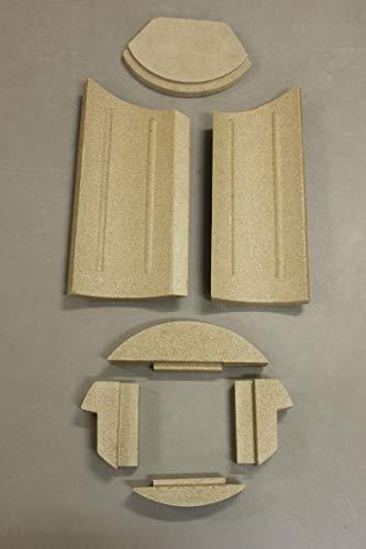 Feuerraumauskleidung für den Cera Tipo Kaminofen - Vermiculite - 7-teilig