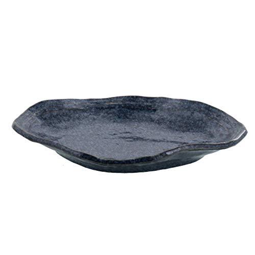 テーブルウェアイースト 和食器 変形大皿 24cm お皿 プレート 楕円皿 (天目)