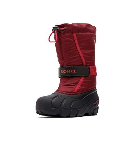Sorel Unisex-Kinder Youth Flurry Schneestiefel, Rot (Red Jasper/Mountain Red), 39 EU
