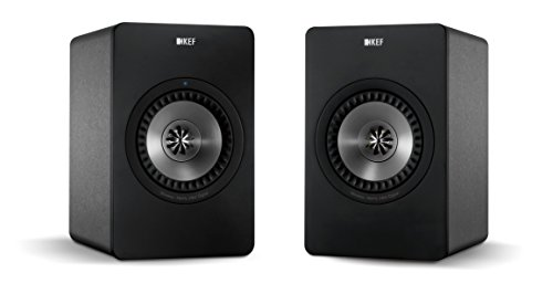 KEF X300A Wireless Digital Hi-Fi Speaker System - Gunmetal Grey (Pair)