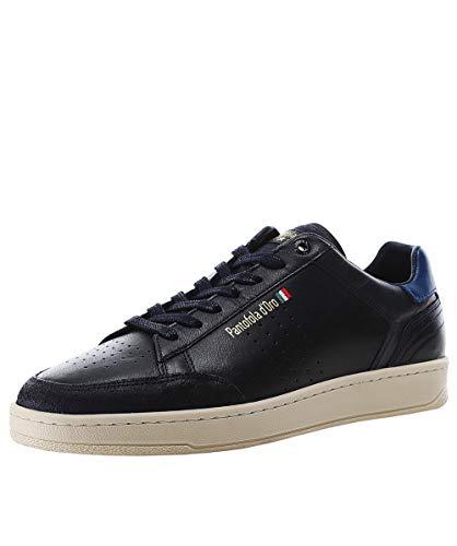 Pantofola d'Oro Hombres Zapatillas de Cuero caltaro Blue 45