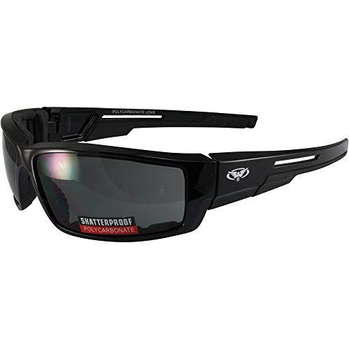 Global Vision Sly Foam Padded Motorcycle Sunglasses Black Frame (Smoke)