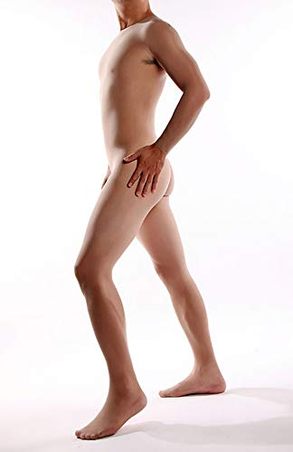 YG& Herren Erwachsene Strumpf Ganzkörper Ultra dünn Strumpfhose Transparent Neuheit Sexy 2 Farben,Flesh