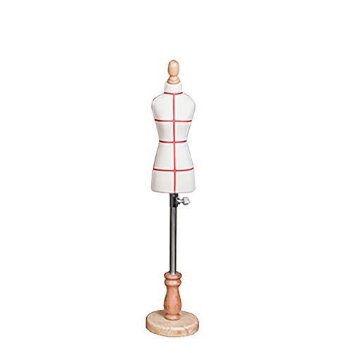 TQJ Maniquies Para Costura Pequeño Sastre maniquí femenino, mini vestido de la muñeca de forma de la pantalla del maniquí de las modistas maniquíes Decoración Dollhouse Accesorios, altura ajustable Ma
