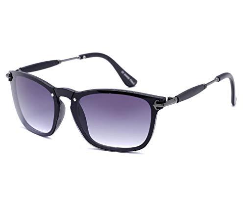 Alsino Viper Lunettes de soleil ovales sans bordures avec protection UV 400 Protection Viper Eyewear Collection pour homme et femme Unisexe, Noir