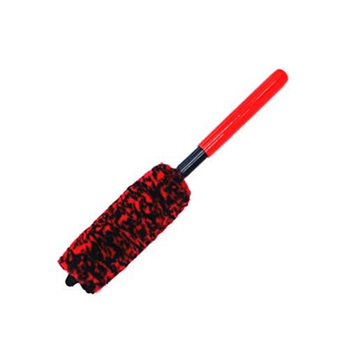 mooderf Cepillo de limpieza de ruedas de microfibra, sin metal, para detalles de ruedas y llantas, fibras densas, limpia las ruedas de forma segura, sin arañazos.