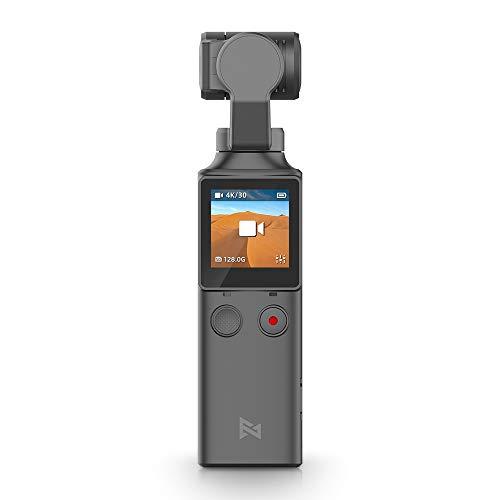 FIMI Palm Estabilizador Gimbal de Bolsillo con cámara Inteligente 4K, Lente Ultra Gran Angular de 128 °, Conexión WiFi y Bluetooth, Micrófono Incorporado y micrófono Externo Compatible